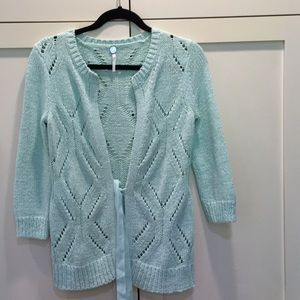 Women Margaret O'Leary Cardigan Sweater Seafoam S